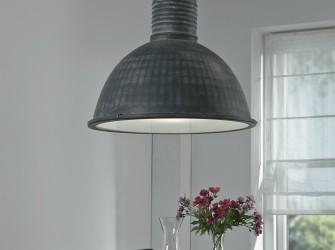 [Webshop] Hanglamp Constance, Ø52 industrieel, kleur grijs