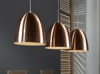 [Webshop] Hanglamp Florence 3-lamps, kleur Koper