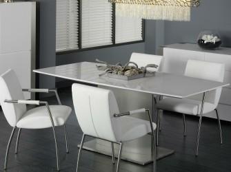 [Webshop] Eettafel Estefana 200 x 90cm, kleur hoogglans wit