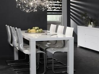 [Webshop] Eettafel Alysha, kleur hoogglans wit