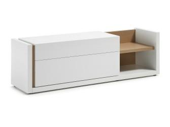[Webshop] LaForma Tv-meubel QU, Wit met 2 laden