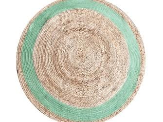 By-Boo Vloerkleed Jute Round 120 cm, kleur groen