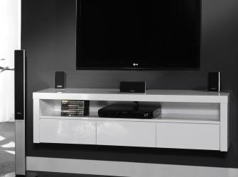 [Webshop] Hangend TV-meubel Jeneva, kleur hoogglans wit