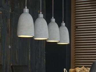[Webshop] Hanglamp Rudolf beton, 4-lamps - Gratis bezorging…