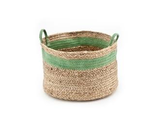 By-Boo Basket Jute, kleur groen