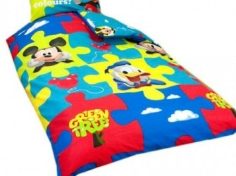 Dekbedovertrek Mickey mouse Donald duck