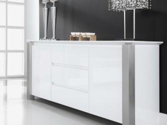 [Webshop] Dressoir Pok 190cm, kleur hoogglans wit