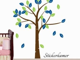 Kleurrijke muursticker boom (kies je eigen kleuren