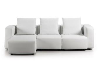 [Webshop] LaForma Driezitsbank Ledumo PU met lounge, kleur…