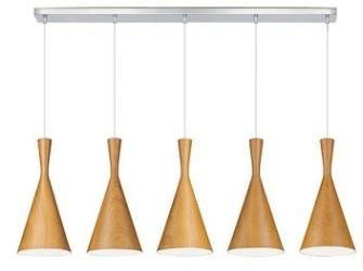 [Webshop] Linea Verdace Hanglamp Clessidra Wood 5-lamps, kl…