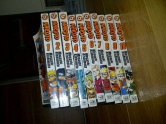 Naruto manga Deel 1 tot 10