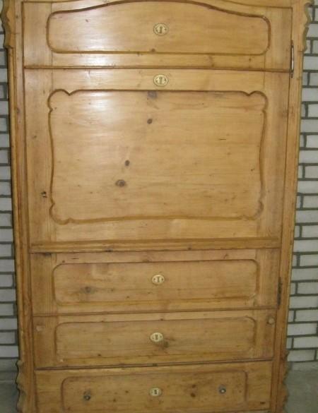 Antieke 1 deurs grenen kuif kast