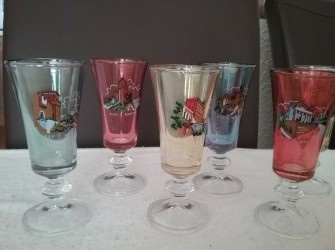Retro // set van 6 likeur glaasjes //1975//  san marino
