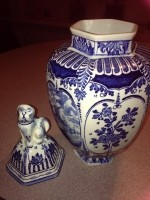 Delfts blauwe vaas - in goede staat!