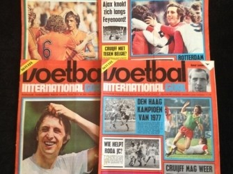 Voetbal internationals uit 1970,71,72,73 en 1974