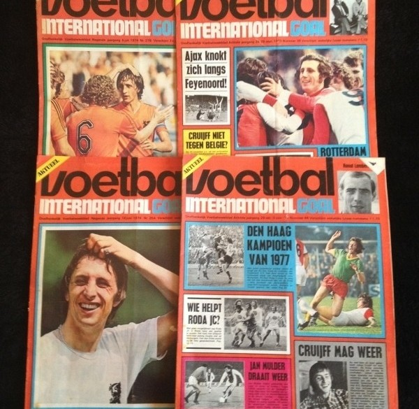 Voetbal internationals uit 1970,71,72,73 en 1974
