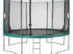Complete trampoline met band, net en trapje