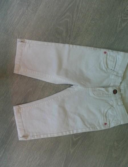 Nieuw witte stretch kuit spijkerbroek mt 110