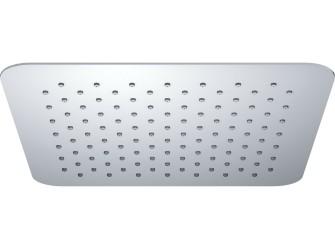 Luxe hoofddouche vierkant 300mm Ultra plat chroom