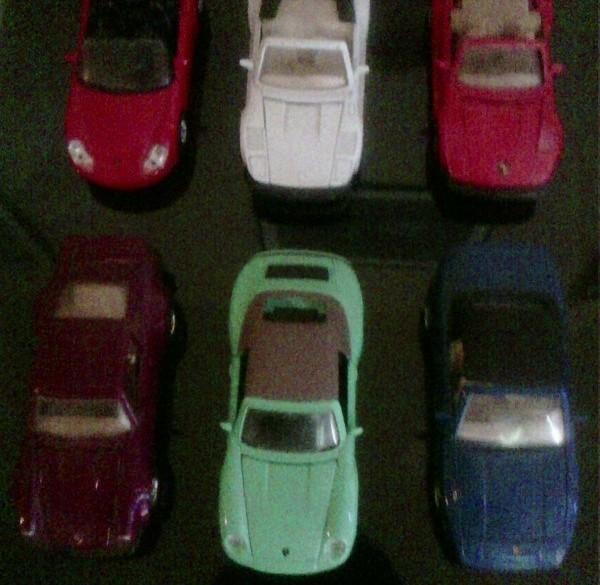 Modelautootjes merk Porsche