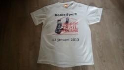 wit loopshirt Koole Sport ROGELLI mt M