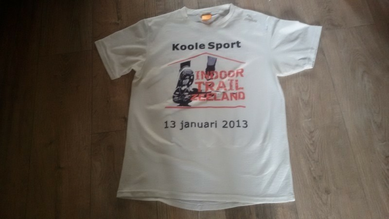 wit loopshirt Koole Sport ROGELLI mt M