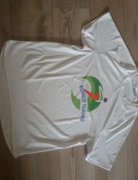 wit loopshirt STARWORLD rondje Tilburg mt M