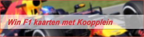Win Formule 1 kaarten met Koopplein