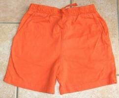 Korte broek oranje maat 122-128