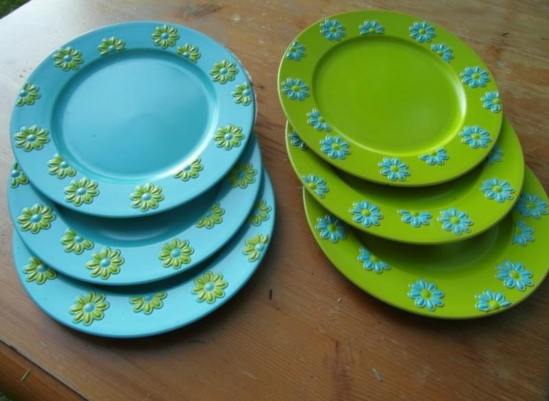 nieuwe plastic-borden