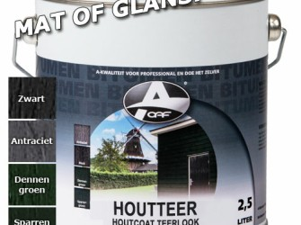 OAF Houtteer (Houtcoat Teerlook) Glans Zwart 750 ml