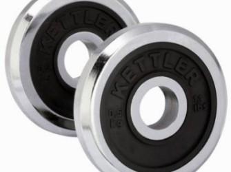 Kettler haltergewichten chroom/rubber 1 x 1,25 kg 07441-700