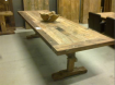 H2 geleefde kasteeltafel teak hout 300cm