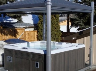 Covana Spa Cover elektrisch privacy paviljoen
