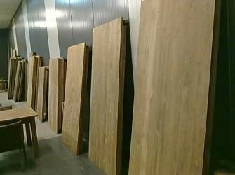 Dinclick tafel geleefd teak hout 180cm