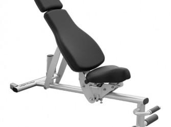 Life Fitness adjustable bench verrijdbaar