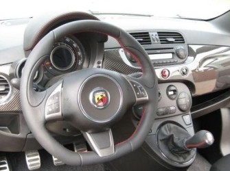 Abarth 500 Carbon Fiber Dashboard Cover Set