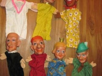7 originele poppenkastpoppen jaren 60