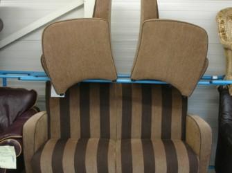 Tweedehands gestreept bankstel+2 fauteuils