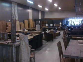 Geborstelde Kloostertafel teak hout 250cm