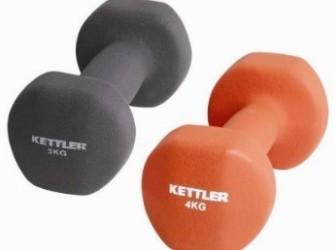 Kettler neopreen dumbells 2 x 4 kg rood 07370-024
