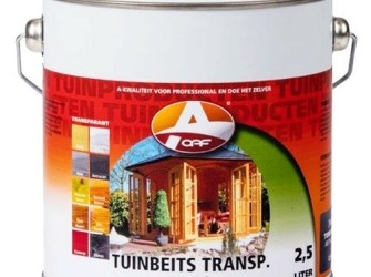 Tuinbeits transparant White (Wit) 2,5 ltr