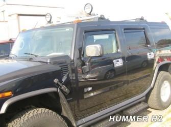 zijwindschermen pasvorm getinte raamspoilers Hummer H3 seri…