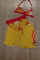 Bikini geel/oranje met broek van Spex
