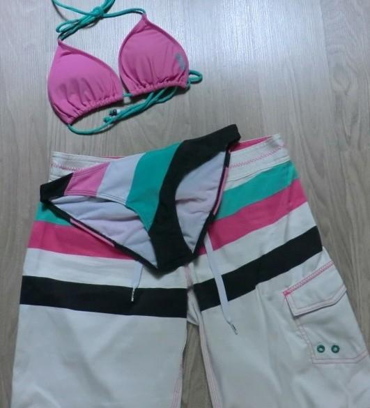 Bikini wit/roze/zwart met broek, Spex.