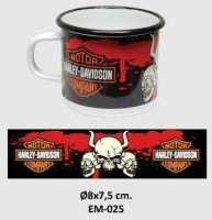 Harley-Davidson Emaille Beker / Mok