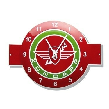 Zundapp Emaille horloge