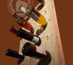 Wijnrek Wand 30 Flessen Steigerhout Sloophout
