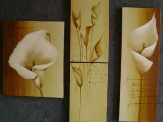 """Nieuw """"Subtiel"""" Lelies Prachtig Olieverfschilderij"""