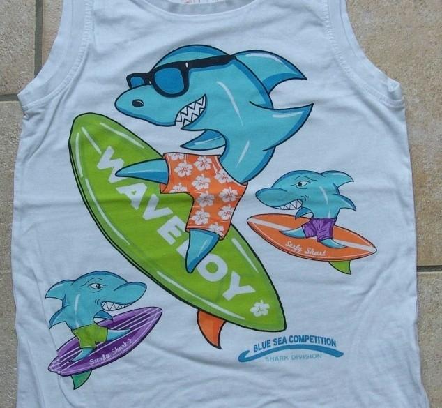 Hemd wit Waveboy maat 128
